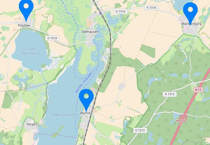 Überblick Standorte der Praxen von Dr. Rainer Külker